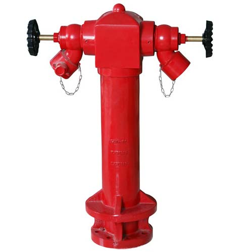 2 ways Cast iron/Ductile iron BS750 pillar hydrant landing valve